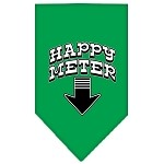 Happy Meter Screen Print Bandana Emerald Green Small